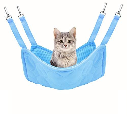 Idepet Cama de enfriamiento para Gatos con Hamaca para Mascotas, colchoneta para Gatos de Doble Uso y Almohadilla para Gatos