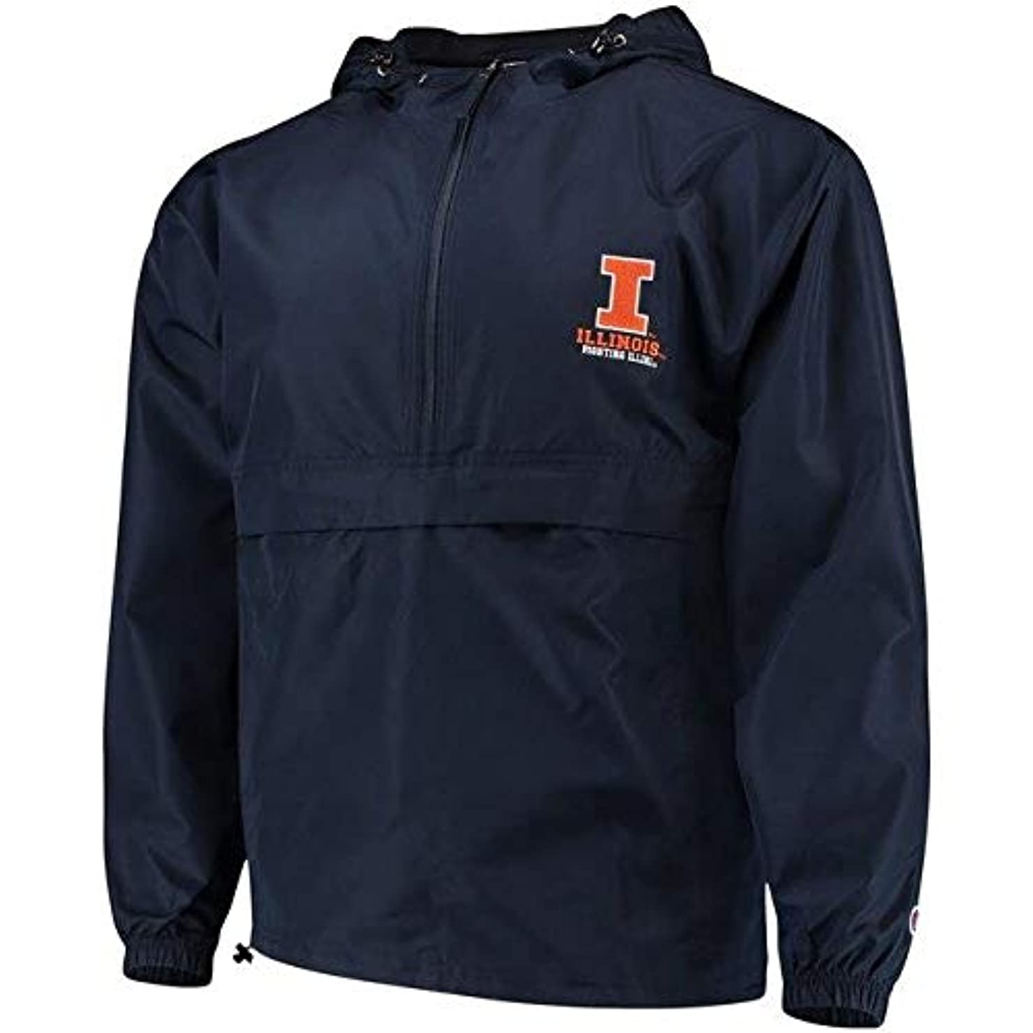 クスコストライド獣Champion Champion Illinois Fighting Illini Navy Packable Jacket スポーツ用品 【並行輸入品】