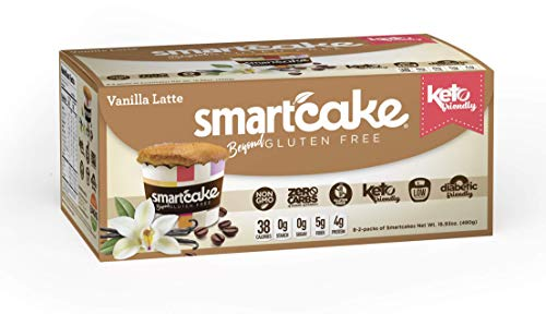 Smart Baking Company Smartcake, Sugar Free, Gluten Free, Low Carb, Keto Dessert (Vanilla Latte, 16 CT)