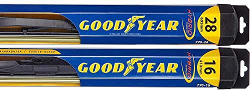 Hybrid - Windshield Wiper Blade Bundle - 3 Items: Driver & Passenger Blades & Reminder Sticker fits 2010-2015 Nissan Altima