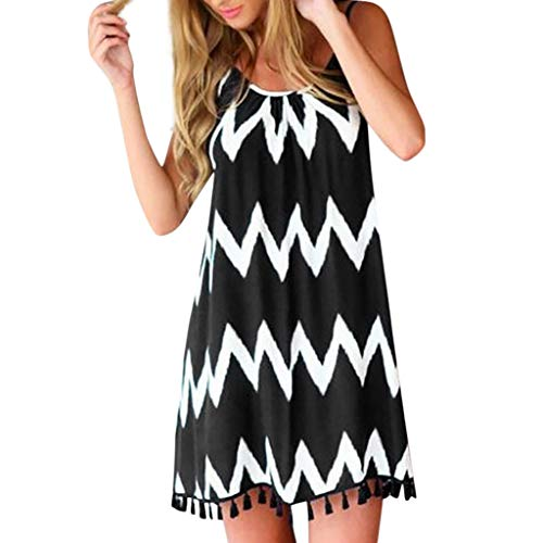 Why Should You Buy Todays Deals Clearance Women Summer Sexy Wave Pattern Tassel Strap Sleeveless Hol...