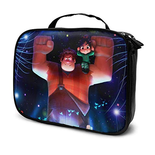 Ralph Breaks The Internet Cartoon Movie Makeup Bag Travel Toiletry Bags Large Cosmetic Cases for Women Girls 7.4 X 9.8 Inches