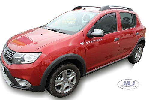J&J AUTOMOTIVE | Deflecteurs d'air déflecteurs de Vent Compatible avec Dacia Sandero 2012-2020 2 pièces