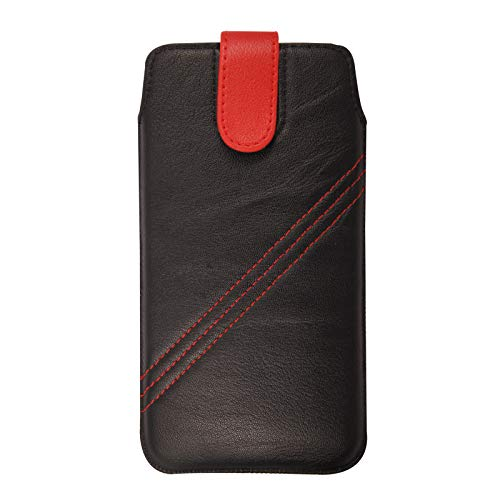 Nokia 105 (2017) Case, Shockproof Protective Premium Leather Pull Tab Slide In Top Flip Up Phone Case Pouch Sleeve Cover For Nokia 105 (2017) (Dark Brown)