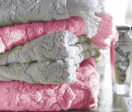 Blanc des Vosges Princesse Drap de bain Coton Bois de rose 150 x 100 cm