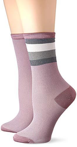 Tommy Hilfiger Damen TH WOMEN 2P COLLEGIATE MESH Socken, Rosa (Woodrose 012), (Herstellergröße: 39/42) (2er Pack)