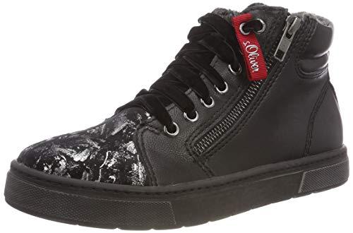 s.Oliver Mädchen 43400-31 Hohe Sneaker, Schwarz (Black 1), 37 EU