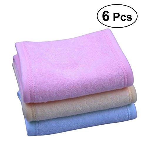6pcs Magic Tape Spa Bain Maquillage Hair Band Wash Face Bandeau cosmétique (Rose Violet Jaune)