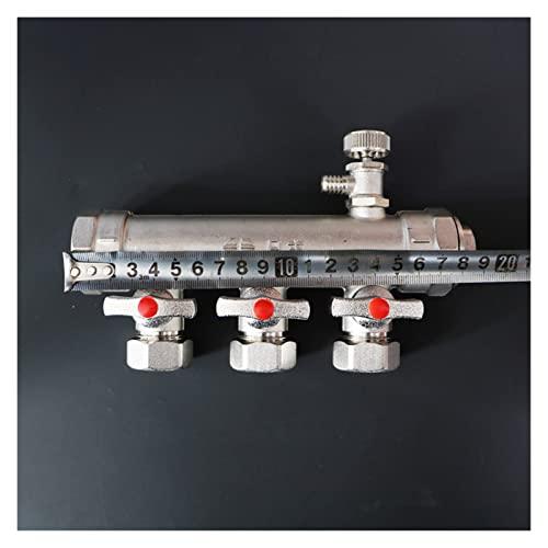 Programmierbarer Thermostat Kupfer-Krümmer-All-Kupfer-Schmieden und Drücken eines doppelten Ventil-Set-Verteilers 20 Fußbodenheizung und Geothermie intelligente Fliesen ( Size : 3-way water splitter )