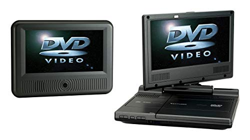Venturer (PVS19388IR) Swivel Dual-Screen Portable/Mobile DVD Player - Set of Two 8-Inch LCD Screens | New Gift Box | Remote | Car Power Adapter | AC Charger (1 Year Warranty) (Renewed)
