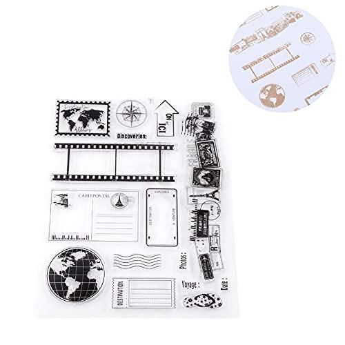 Clear Stamps Sheets, Transparent Tampon Bullet Journal pour la Fabrication de Cartes Décoration et Scrapbooking