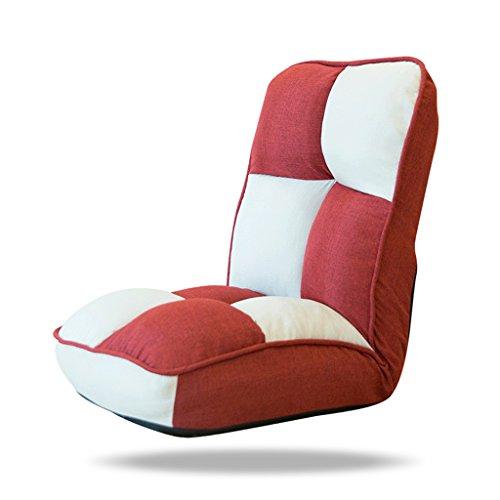 Lazy Sofa Fold Chaise Chambre Salon Tissu Loisirs Fauteuil -LI JING SHOP (Couleur : Red)