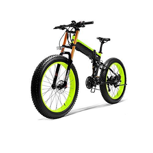\t Upgrade 1000W Fat Tire Electric Bike- 14.5AH /48V Lithium Battery MTB Dirtbike 27 Speeds Electric 26 Inch E-Bike Sports Mountain Folding Bike B