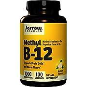 Jarrow Methylcobalamin B12, 1000mcg, 100 Lemon Flavour Vegan Lozenges (1000mcg, 100 Lemon Flavour Vegan Lozenges)