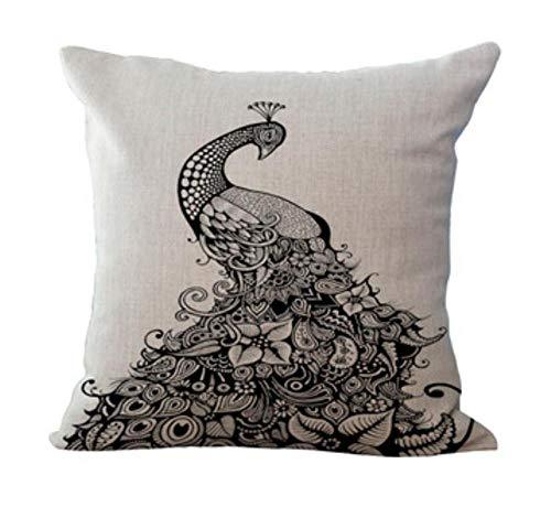 2 kussens mode hoogwaardige dieren olifanten neushoorn uil pauw zebra auto decoratief sierkussen val kussensloop sofa wooncultuur 50 * 50 cm