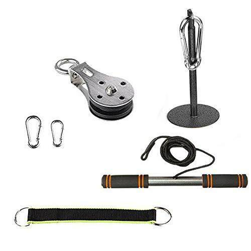 HAIZICJ Armkrafttrainer Arm Krafttraining, Trainingszubehör für Heimgymnastikgeräte, Befestigungssystem für Riemenscheiben-Kabelmaschinen für Arm Bizeps Trizeps Blaster Krafttraining