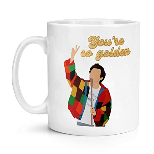 ZMKDLL You're so Golden Harry Styles Fan Ceramic Novelty Coffee Mug Tea Cup 11 oz Large Drinking Cup Decor