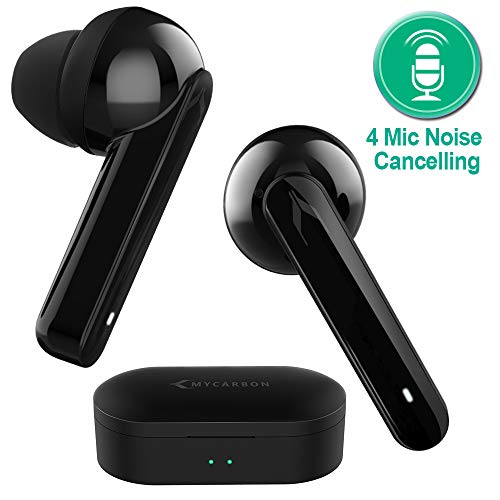 MYCARBON V5.0 Ecouteur Bluetooth sans Fil Oreillette Bluetooth Double Micro Autonomie 6h Max Casque Intra-auriculaire pour iPhone Samsung Huawei Xiaomi Sony