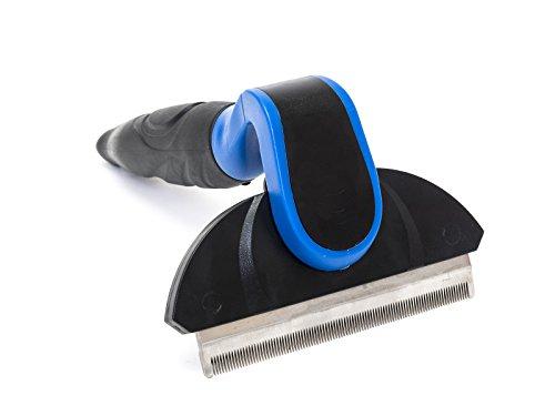 Happilax Cepillo para perro grande, mediano o pequeño y gatos con pelo largo o corto, Peine eliminación pelo muerto, 100mm