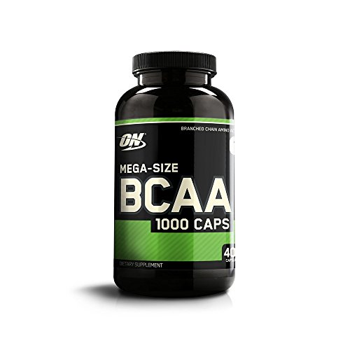 Optimum Nutrition BCAA 1000 Powder Branched Chain Amino Acids with L-Leucine, L-Isoleucine and L-Valine, Unflavoured BCAA Supplements, 200 Servings, 400 Capsules