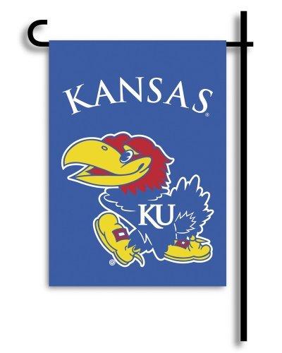 BSI NCAA Kansas Jayhawks 2-Sided Garden Flag, One Size (83114)