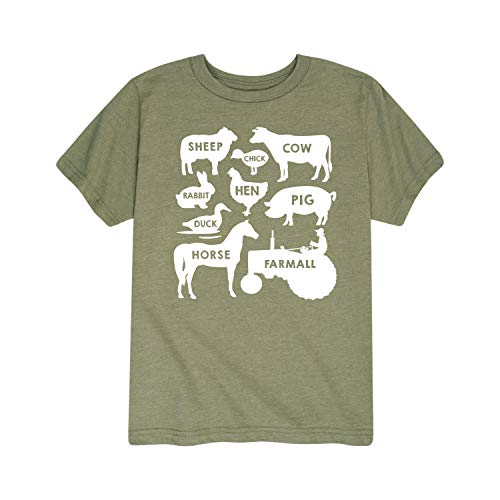 Farm Animals Farmall - Toddler Short Sleeve Graphic T-Shirt Heather Military Green