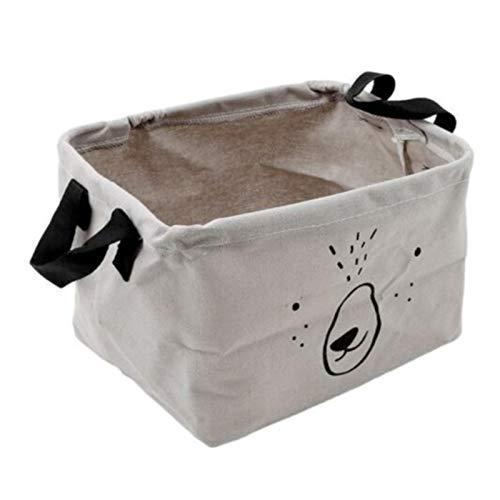 ZSHXX Cesta de lavandería Plegable Cestas de Almacenamiento de Juguetes de Juguete Bin para niños Perro Juguetes Ropa Organizador Animal Lindo (Color : Gray)