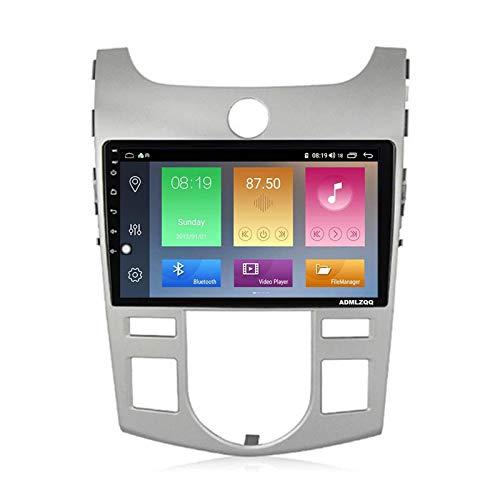 WY-CAR Unidad Principal Estéreo De Coche De 9 Pulgadas Android 10.0 Doble DIN para KIA Forte 2009-2014, Am/FM/RDS/DSP/Bluetooth/SWC/Mirror Link/Cámara De Visión Trasera
