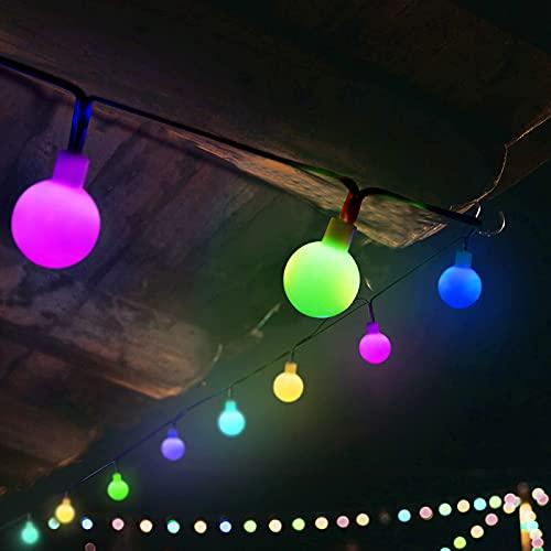 SUNNEST Multicolor Solar Lights, 8M 60 LED Waterproof Solar Festival Lights for Outdoor / Indoor Decoration, Christmas Tree, Party, Garden