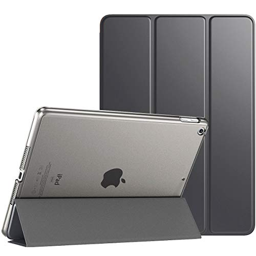 TiMOVO Case for New iPad 8th Generation 2020 / iPad 7th Generation 10.2' 2019, Slim Translucent Frosted Back Protective Smart Cover Case with Auto Wake/Sleep for iPad 10.2-inch - Space Gray