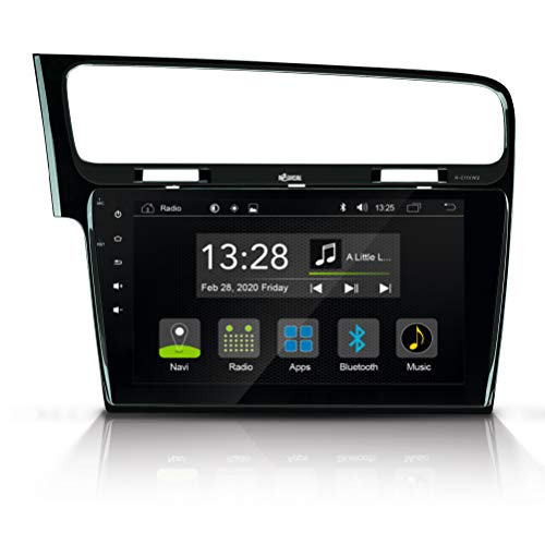 """RADICAL R-C11VW2: Android Autoradio für VW Golf 7, mit DAB+, UKW, USB, Bluetooth, WiFi/WLAN, 10,1"""" Touchscreen, App Radio mit offenem Android 9.0 OS, zum Navi erweiterbar"""