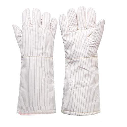 ZFZ Handschuh, Handschuhe, Handschuh, 300 Grad-Hochtemperatur-Handschuhe Insulated Anti-Statik-Handschuhe Reinraum Spezielle staubfreie Handschuhe, Keine Späne 26 / 40cm, White26cm,White40cm
