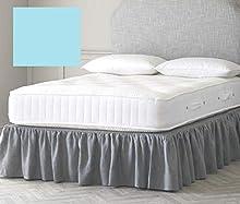 Sábana bajera para cama doble de 1,6 x 1,3 m (137,2 x 1,9 x 1,9 cm) (bajo colchón) (azul huevo)