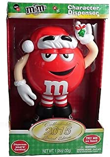 2015 Red M&M Santa Claus Limited Edition Candy Dispenser