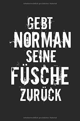 Gebt Norman Seine Füsche Zurück: A5 Kariert Karo Notizbuch | Ritter | Familie | Norman | Spruch | Witzig | Lustig | Humor | Fische | Satire | Aquarium | Angeln |Geschenk