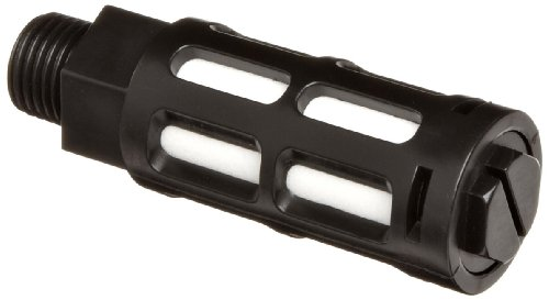 "Parker ASN-8 Acetal Plastic Exhaust Air Line Silencer, 1/4"" NPT, 124 scfm Flow, 150 psi,Black"