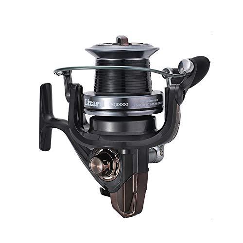 GYAM Carrete Pesca Giratorio, 13BB + 1 Rodamientos Bolas Metal 3000-10000 Asas Intercambiables Rueda Giratoria Pesca Mar Izquierda Y Derecha,10000