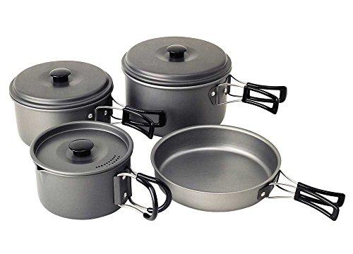 Campingaz Campinggeschirr Trekking-Geschirrset aus Aluminium, drei Töpfen 2.3, 1.5, 1 Liter, 16 x 20 cm