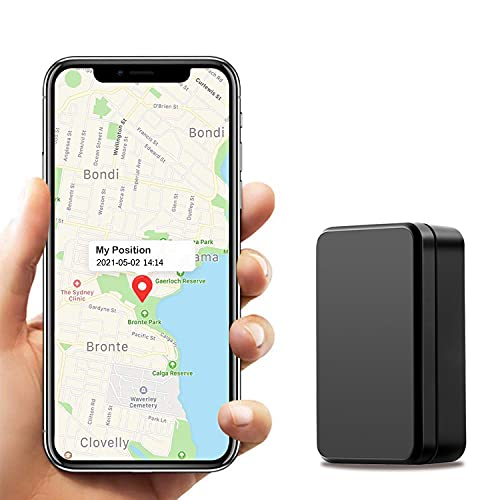 Kimfly GPS Tracker Auto, Starker Magnet GPS Locator Kinder Wasserdicht Echtzeit Tracking mit Freier APP, GPS/AGPS/WiFi/LBS-Modus Tracker für Boot Motorrad LKW Tracker Ortungsgerät