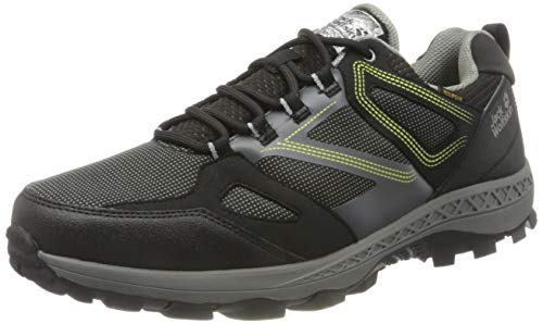 Jack Wolfskin Herren Downhill Texapore Low M Outdoorschuhe, Black/Lime, 42.5 EU