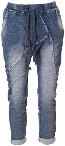 Basic.de Boyfriend-Hose im Joggpant Style Melly & CO 8175 Jeans-Stoff M
