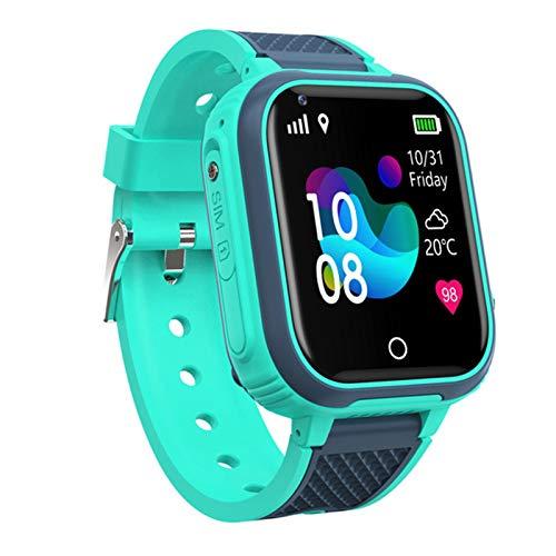 GPS Reloj Inteligente Niña Impermeable - Smartwatch Niños Localizador GPS Niños, Pulsera Inteligente Reloj Inteligente Niña Regalo, Con Llamada Telefónica SOS Despertador GPS Tracker Podómetro,Verde