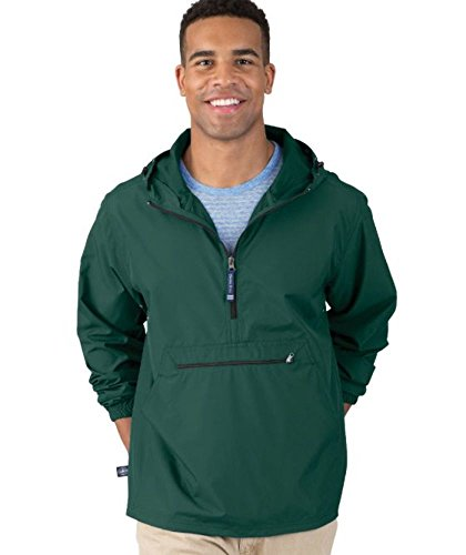 Charles River Apparel Pack-N-Go Wind & Water-Resistant Pullover (Reg/Ext Sizes), Forest, 3XL