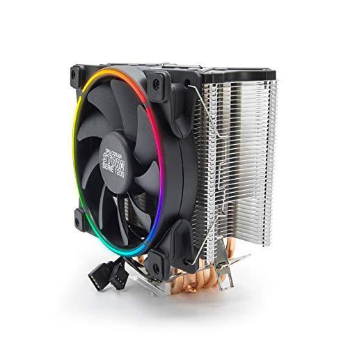 YEYIAN, Sistema Refrigeracion de CPU STORM Gaming, Ventilador de PC con RGB LED, Disipador con gran flujo de aire, 5 Tubos de Cobre, Bajo nivel ruido, 1000 a...