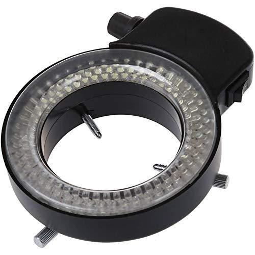 YCX LED Mikroskop Ringlicht Ringleuchte 0-100% Einstellbar Lampe, Fuer Microscope Ringbeleuchtung,Schwarz