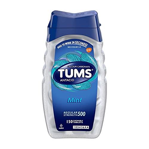 TUMS Antacid, Regular Strength Chewable Tablets, Mint 150 ea (Pack of...