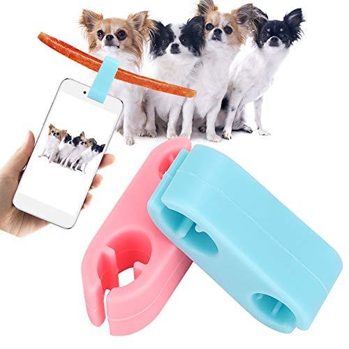 【ó 】 Abrazadera de Selfie para Gatos, Clip de Silicona para Selfies...