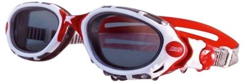Zoggs Predator Flex - White / Red / Polarized Lens Smoked Swimming Goggles Size: One Size