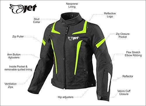 JET Motorradjacke Damen Textil Wasserdicht Winddicht Mit Protektoren - 3