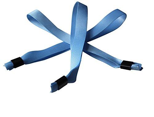 20 cintas de tela para pulseras de festivales con cierre deslizante de plástico, en amarillo, color little boy blue